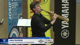 Oskar Rzazewski plays In Freudnschaft by Karlheinz Stochausen