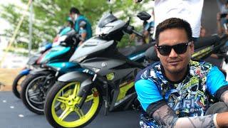 Yamaha y15 v2 pelancaran di cubprix jasin dan ride bersama team Spark Malaysian Club