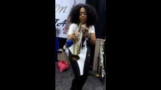 2016 NAMM Show: Saxophonist Theresa Grayson