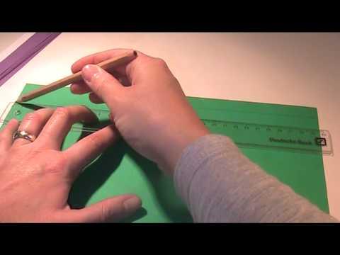 Anleitung und Vorlage - Mit Bastelpapier flechten 1