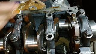 Сборка двигателя ммз д-240. Установка коленвала .