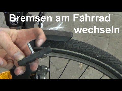 V Brakes Bremse am Fahrrad wechseln Fahrrad Bremsbeläge wechseln ersetzen