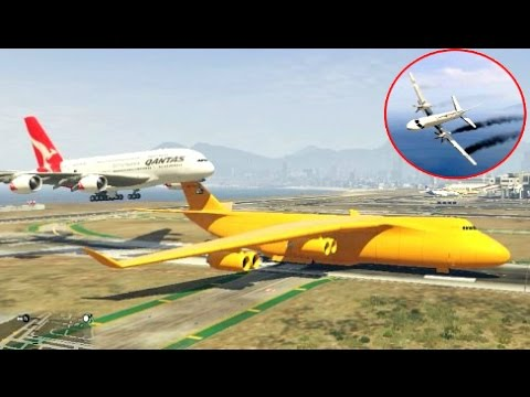 GTA 5✦Airplane Worst Crashes Ep # 5 ✦Stunning Compilation(Funny Moments)