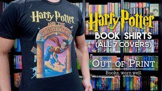 HARRY POTTER BOOK COVER SHIRTS BY OUT OF PRINT | ALL 7 COVERS
