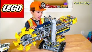 Unboxing and Playing with Lego Bucket Wheel Excavator + Pretend Play Copsand Robbers Intro Skit