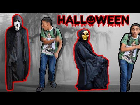 PEGADINHA - HALLOWEEN - ASSUSTANDO PESSOAS - Halloween Prank