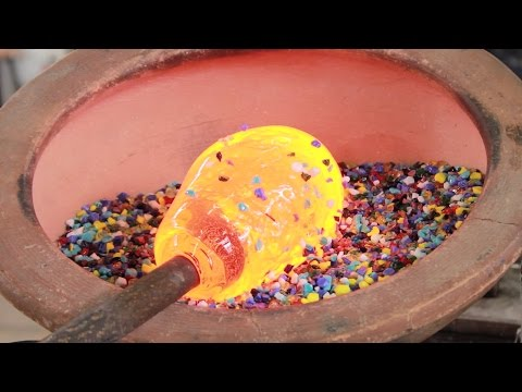 How a Hand Blown Glass Pitcher is Made