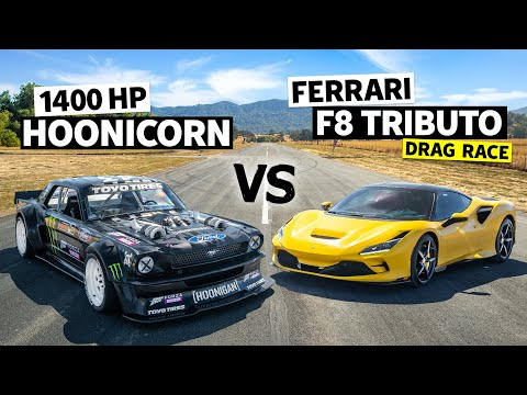 Ken Block Stars In A Ford Vs Ferrari Drag Race F8 Tributo Comes Out To Play Autoevolution