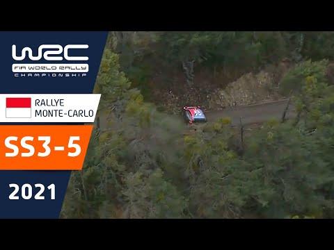WRC 2021 トヨタのエバンスがトップ 開幕戦のラリーモンテカルロ SS3-5ハイライト動画