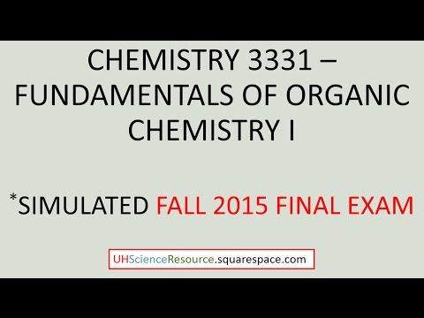 Organic Chemistry 1 (CHEM 3331) – Final Exam Fall 2015 ...