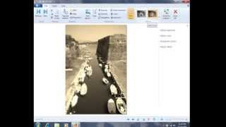 Creating Black and White Photos with Windows Photo Gallery