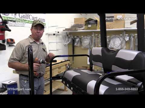 Mad Jax Rear Seat Golf Bag Attachment | How to Install on Golf Cart