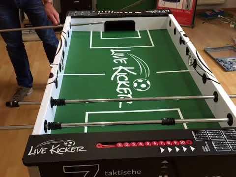 Tischkicker - Livekicker - Videoaufbauanleitung - Teil 3 - Stangen - Befestigung - Izzy Sport