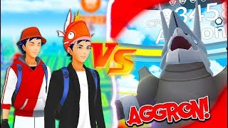 Download Youtube: THEY DID THE IMPOSSIBLE! TWO Trainers VS  AGGRON Raid in Pokémon Go!