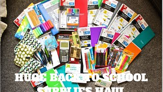 HUGE Back to School Supplies Haul 2016!!!