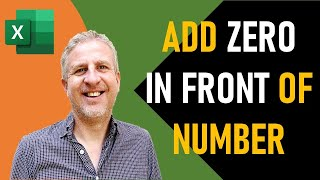 Add a Zero In Front of a Number in Excel | Formula to Keep Leading Zeros to a Certain Length