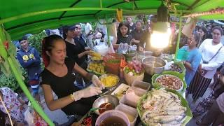 คลิปเจ้เบียร์ คนละยำแจกยำฟรี ถ่ายมุมสูงในรถซาเล้งคู่ชีพ ยำกั้ง ปูม้า สุดแซบ Spicy Yum Seafood Salad
