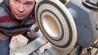#7 Wood Turning An Ash Platter With Milliput Rings - Part 2