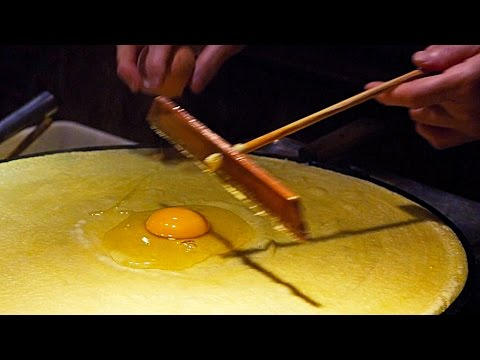Beijing Street Food - Chinese Traditional Crepe  Jian Bing