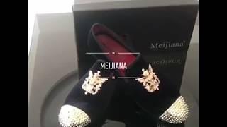 MEIJIANA Mccrery- Mens Footwear Dress Shoes Loafers - Black, Red, Brown