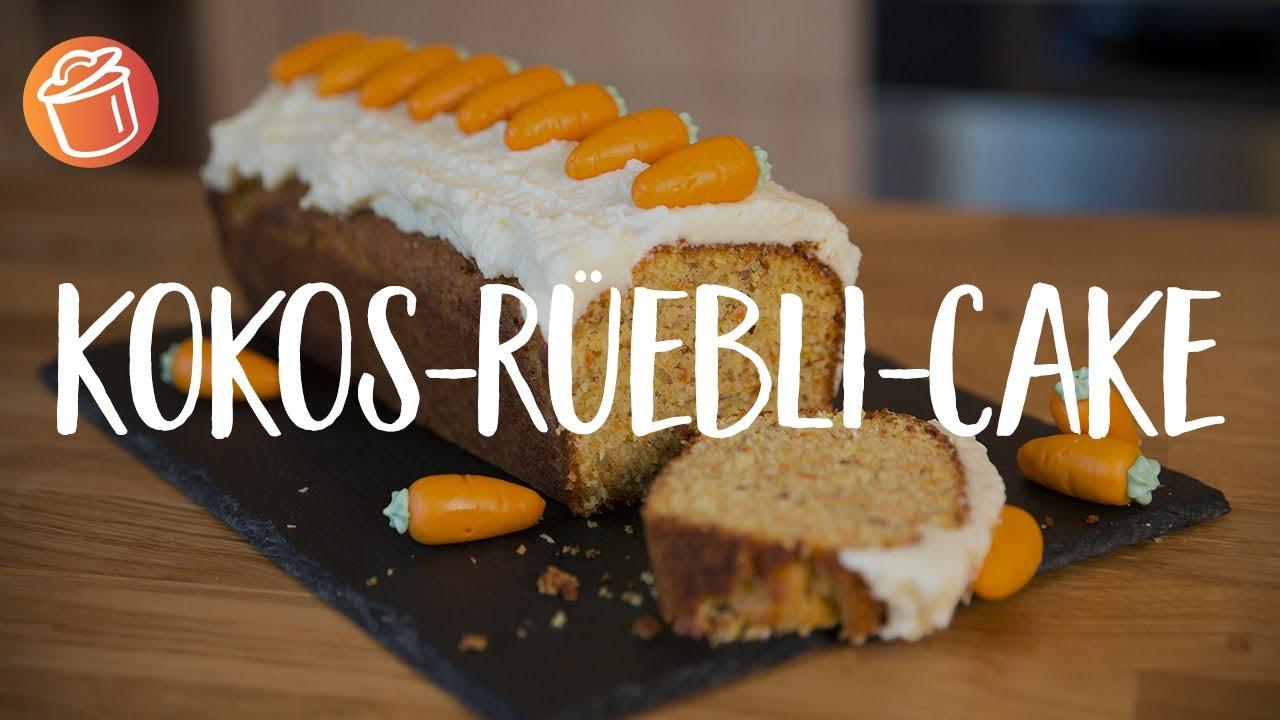 Kokos-Rüebli-Cake