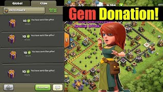 how to donate gems in clash of clans 2019 - TH-Clip