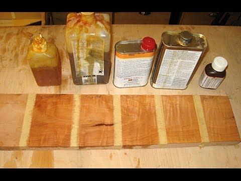 Öl Finish Vergleich - Holzwerken