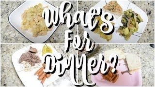 WHAT'S FOR DINNER | EASY DINNER RECIPES  | AFFORDABLE MEALS | WORKING MOM WHATS FOR DINNER?