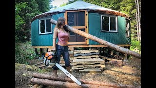 Living Off Grid - Yurt Homestead & Alone in Wilderness   A FULL MONTH in the Life