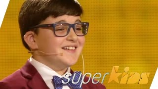 Tiny Jerry Lewis: 10yrs old master pianist | Adrian Romoff | Superkids