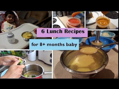 Video 6 Lunch Recipes for 8+ months baby (Stage 3 - homemade baby food recipes)  8+ months babyfoodrecipes