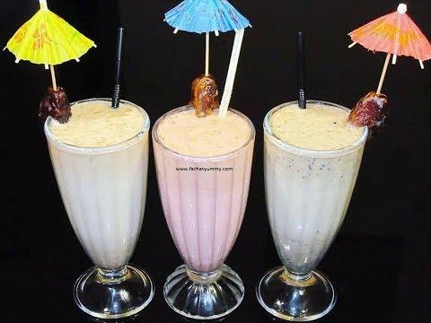 Easy And Simple Date Milkshakes – 3 Ways