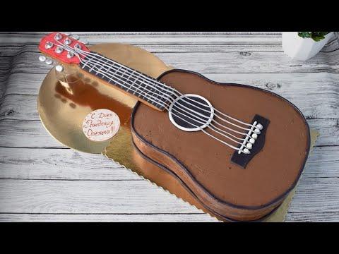 Как приготовить торт в виде гитары