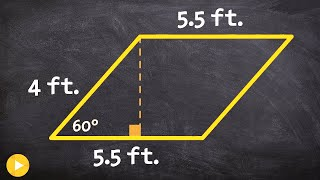 Use Special Right Triangles To Determine The Height To Find The Area Of A Parallelogram