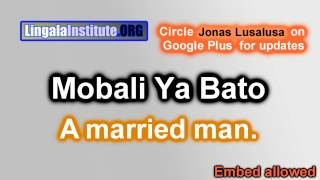 How To Say A Married Man In Lingala, Mobali Ya Bato