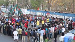 icc world cup t20 flash mob- bangladesh Universtiy (BU)