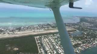 Flying into Marathon airport. (Florida Keys)