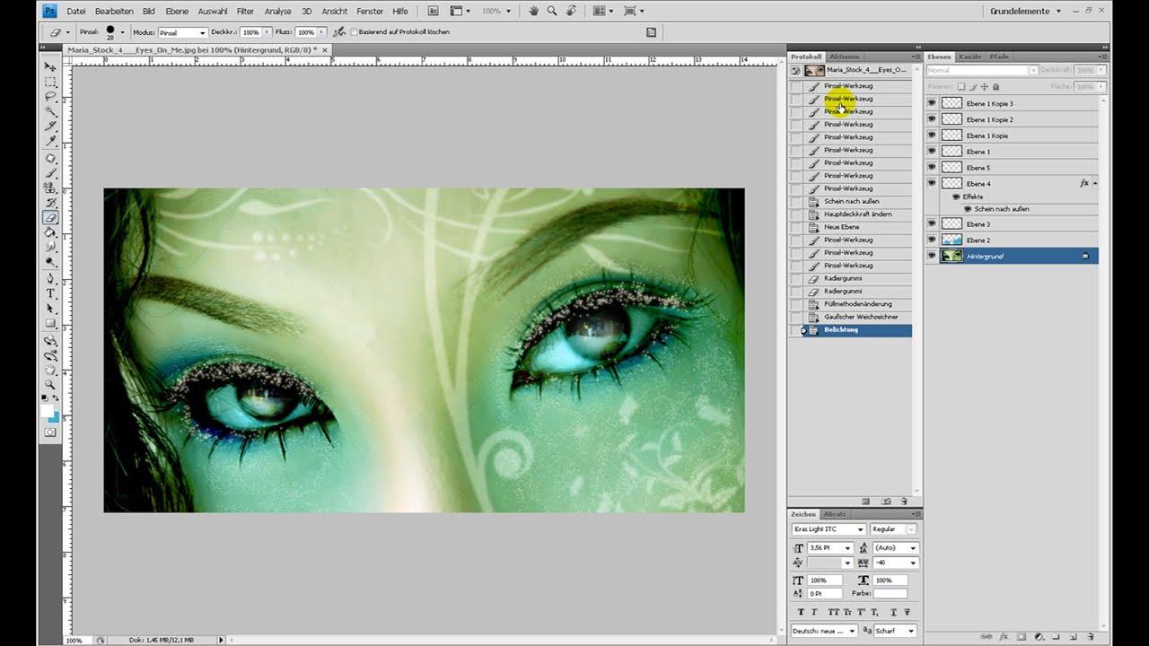 Fantasy-Augenpartie erstellen – Photoshop-Tutorial