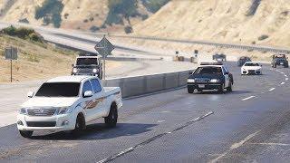 Chasing a dangerous Toyota driver - Arab drift