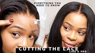 All you need to know: Cutting THE LACE off your wig| CELEBRITY TIPS & TRICKS | Glueless | Myfirstwig