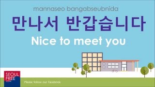 "How to say ""Nice to Meet You"" in Korean - Learn Korean"