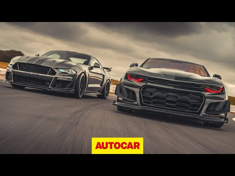 Ford Mustang CS850GT vs Chevrolet Camaro ZL1 - modified American muscle cars compared