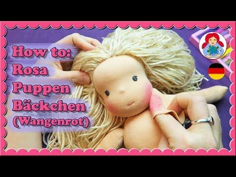 Rosa Bäckchen für deine Puppe (Wangenrot auftragen) • Sami Puppenmacher Tipps
