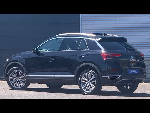 Volkswagen NEW 2020 T-roc Sport in 4K Deep Black 18 inch Montago Bay  Walk around & Inside detail