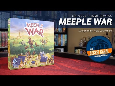 Meeple War Overview and Review by The Secret Cabal
