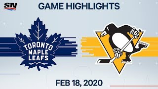 NHL Highlights   Maple Leafs vs Penguins – Feb. 18, 2020