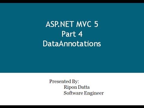 ASP.NET MVC 5 Step By Step: Part 4 Data Annotations Mp3