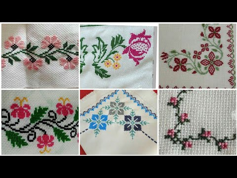 Beautiful and Amazing Cross Stitch patterns For Table Cloth
