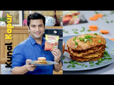 Besan Chilla Pancakes with Oats | Kunal Kapur Recipes | Indian Breakfast Recipe