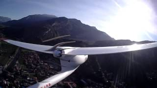 Extreme Turbulences during Flight along North Shore of Lake Garda (RC Motor Glider)